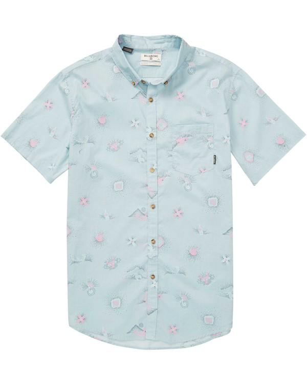 0 Sundays Mini Short Sleeve Shirt Blue M508QBSM Billabong