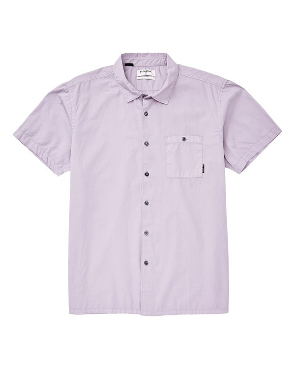 0 Wave Washed Short Sleeve Shirt Purple M508TBWW Billabong