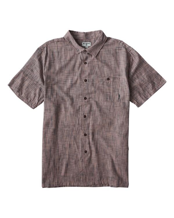 0 Shoreline Short Sleeve Shirt Pink M514VBSH Billabong