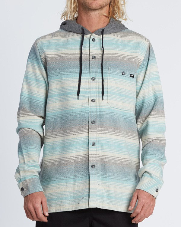 0 Baja Flannel Shirt Red M5211BBF Billabong