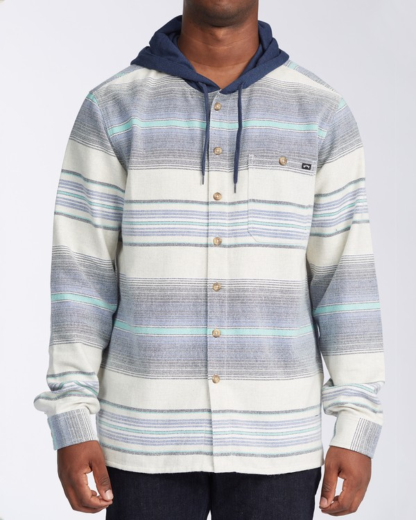 0 Baja Flannel Shirt Blue M5213BBF Billabong