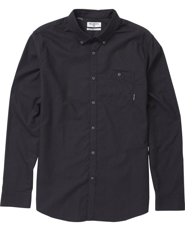 0 All Day Oxford Long Sleeve Shirt Black M521NBAO Billabong