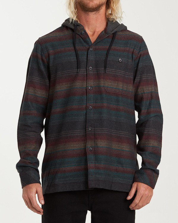 0 Baja Flannel Shirt Black M521VBBF Billabong