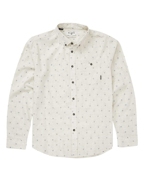 0 All Day Jacquard Long Sleeve Shirt Beige M522QBAJ Billabong