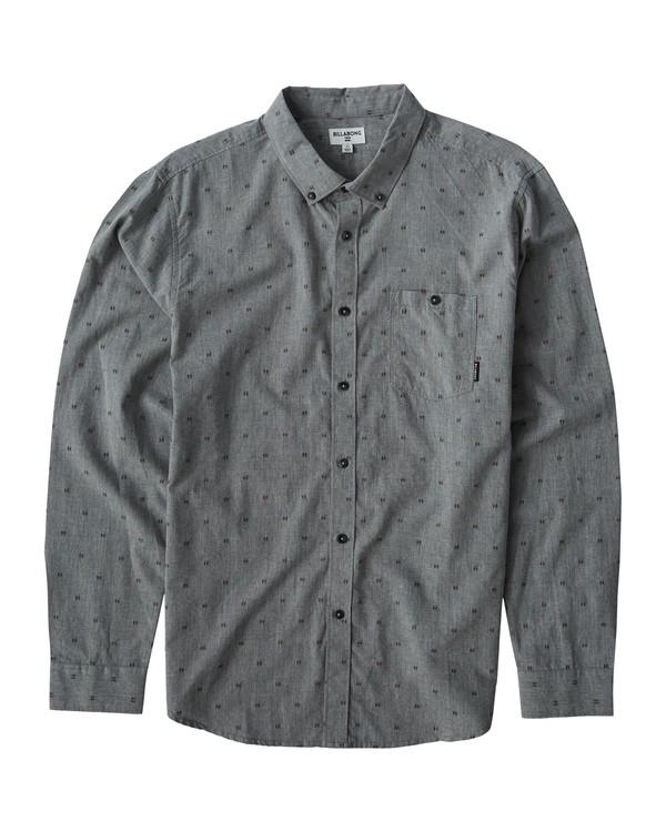 0 All Day Jaquard Long Sleeve Shirt Grey M522VBAJ Billabong