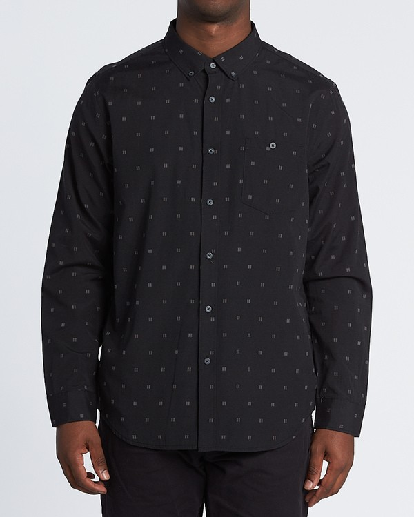 0 All Day Jaquard Long Sleeve Shirt Black M522VBAJ Billabong