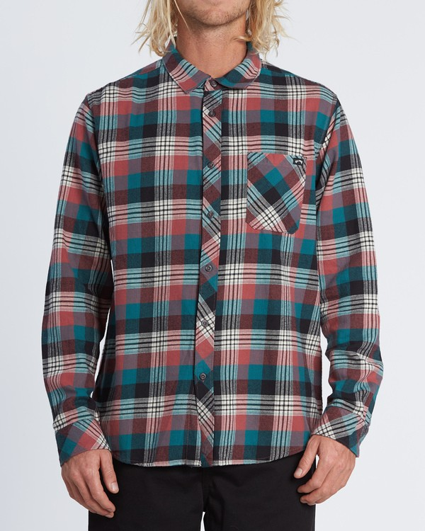 0 Freemont Flannel Shirt Green M5231BFR Billabong