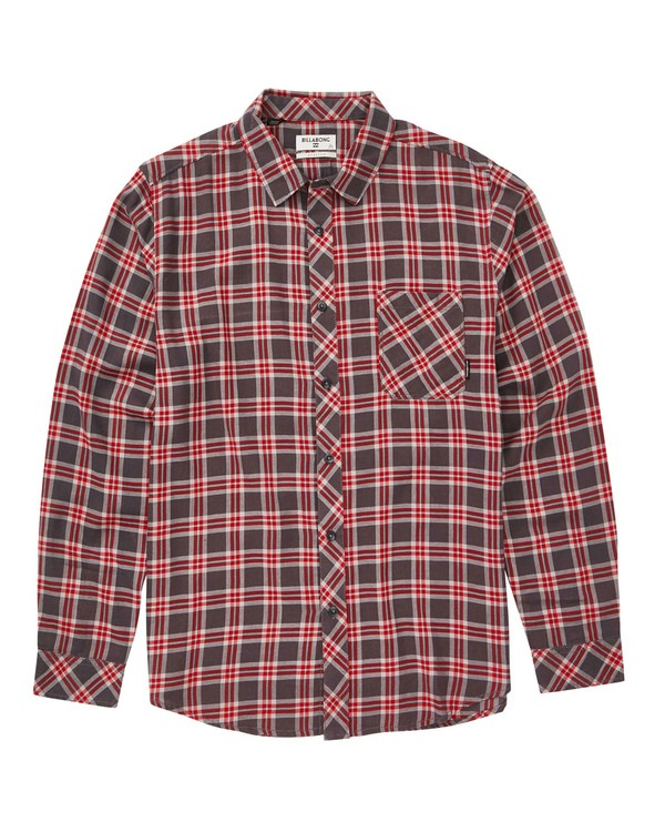 0 Freemont Flannel Shirt Grey M523SBFR Billabong