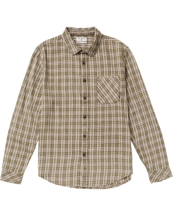 0 Freemont Flannel Shirt Beige M523SBFR Billabong