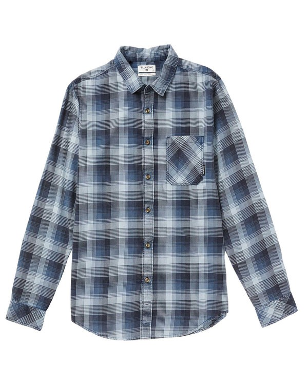 0 Freemont Flannel Shirt Blue M523SBFR Billabong