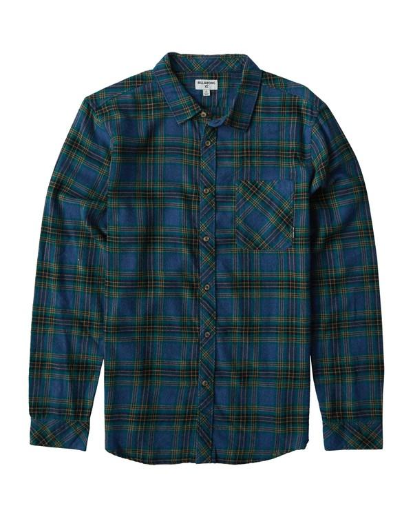 0 Freemont Flannel Shirt Blue M523VBFR Billabong