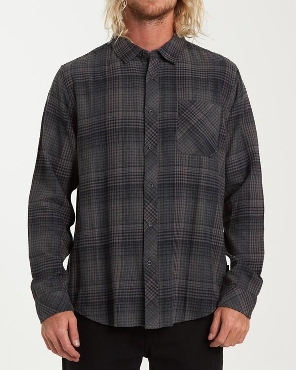 0 Freemont Flannel Shirt Black M523VBFR Billabong