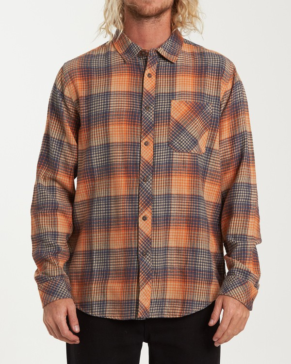 0 Freemont Flannel Shirt Red M523VBFR Billabong