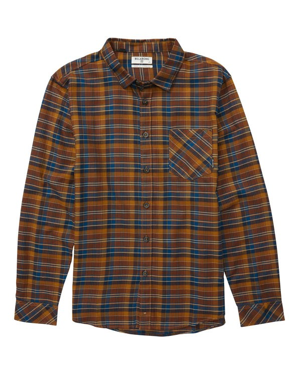 0 Freemont Flannel Shirt Brown M524QBFF Billabong