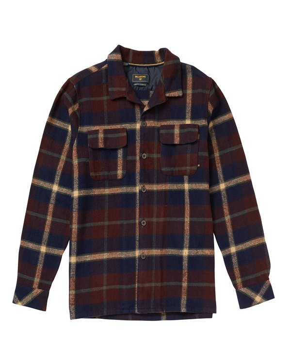 0 The Point Flannel Shirt Blue M524SBTH Billabong