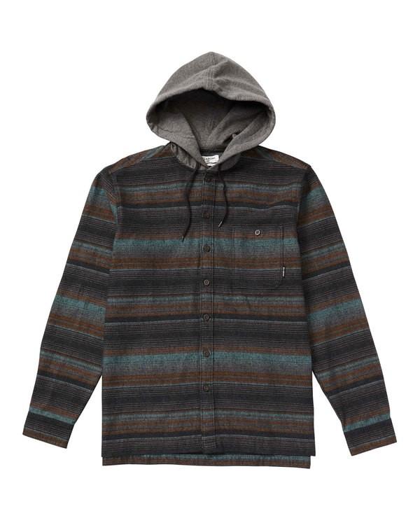 0 Baja Hooded Flannel Shirt  M526SBBF Billabong