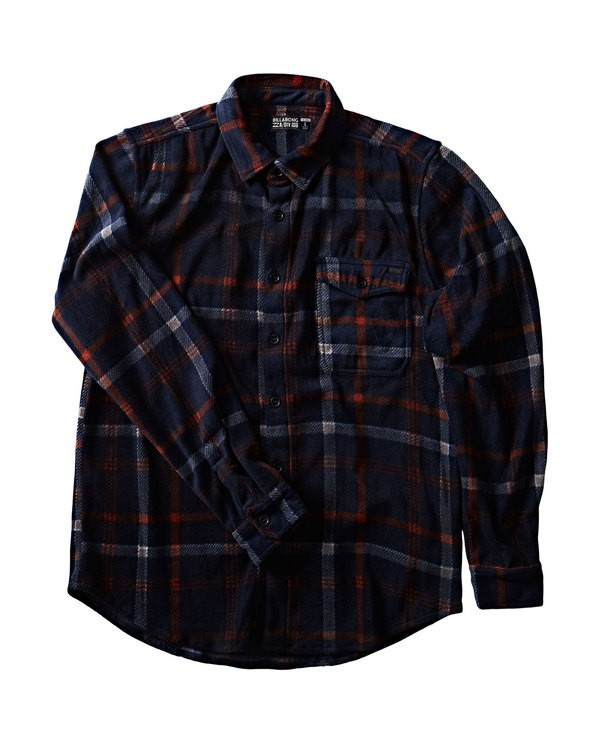 0 Furnace Flannel Shirt Blue M527QBFF Billabong
