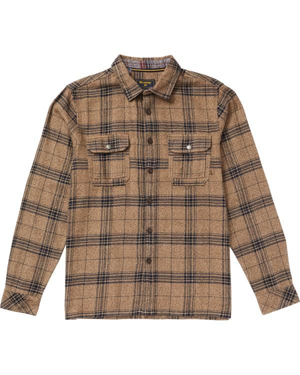 0 Shaping Bay Flannel Shirt Beige M530SBSH Billabong
