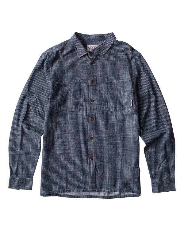 0 97 Workwear Long Sleeve Shirt Blue M531VBWO Billabong