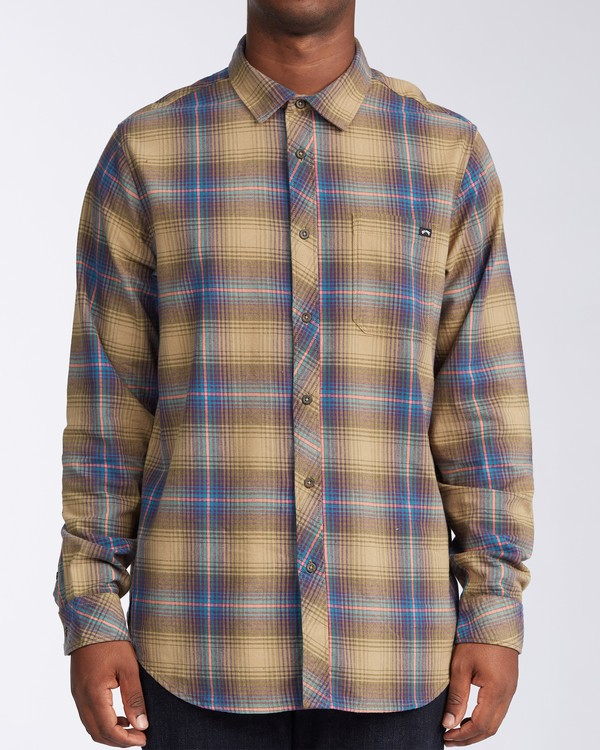 0 Coastline Flannel Shirt Brown M5323BCO Billabong