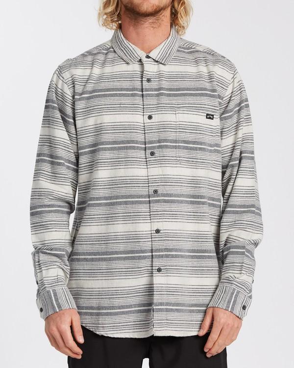 0 Coastline Flannel Shirt Beige M5323BCO Billabong