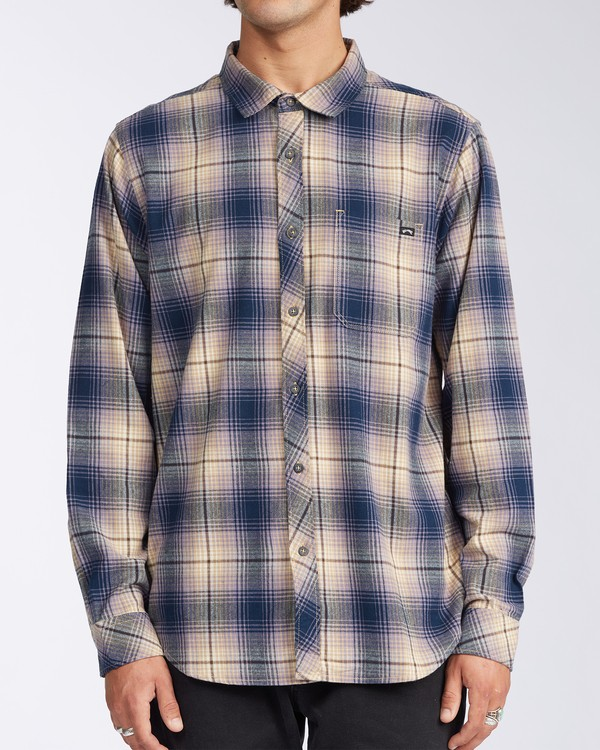 0 Coastline Flannel Shirt Blue M5323BCO Billabong