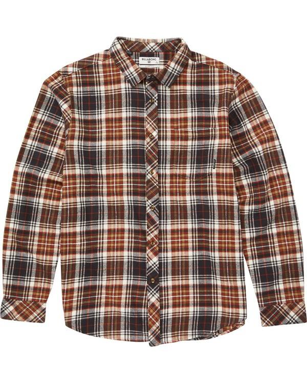 0 Coastline Flannel Shirt Beige M532SBCO Billabong