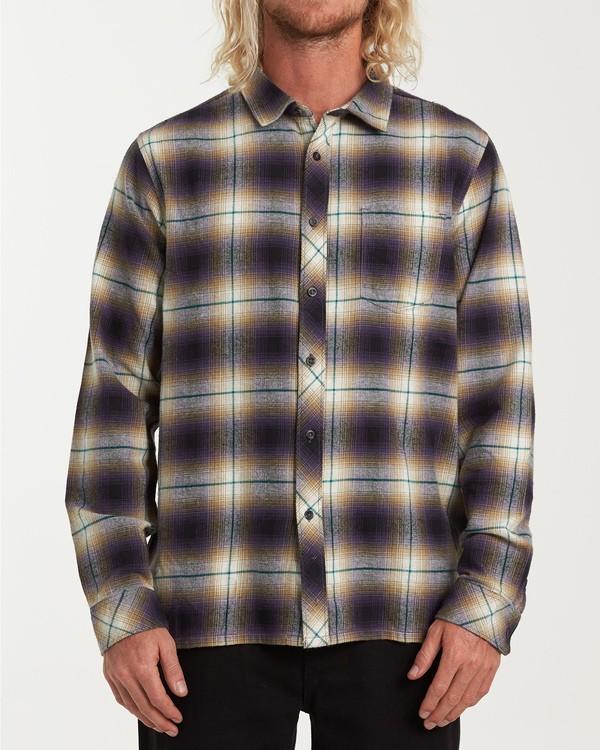 0 Coastline Long Sleeve Flannel Shirt Purple M532VBCO Billabong