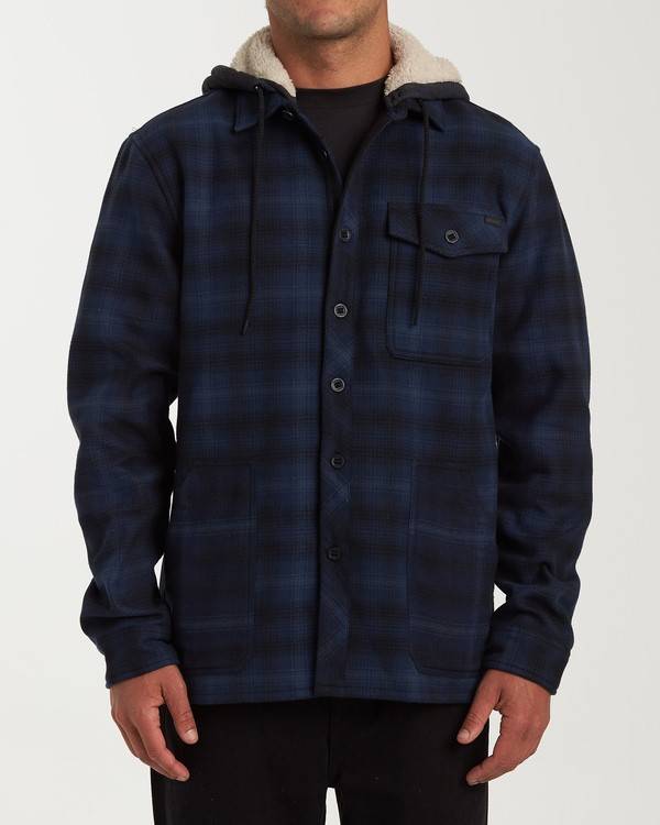 0 Furnace Bonded Hooded Flannel Blue M537WBFB Billabong