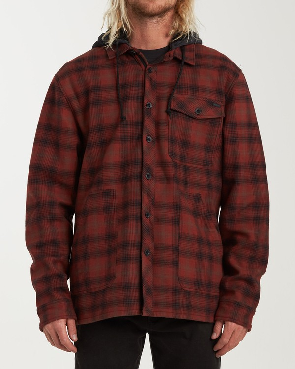 0 Furnace Bonded Hooded Flannel Red M537WBFB Billabong