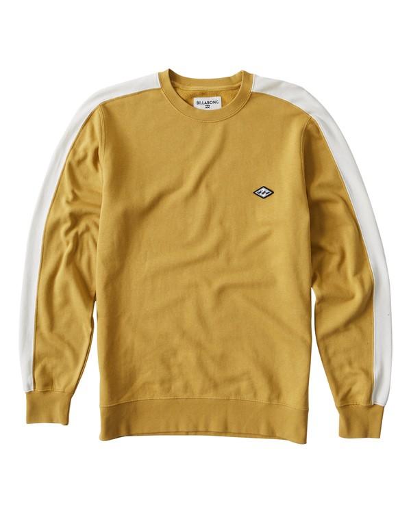 0 Wave Washed Crew Sweater Yellow M613VBWC Billabong