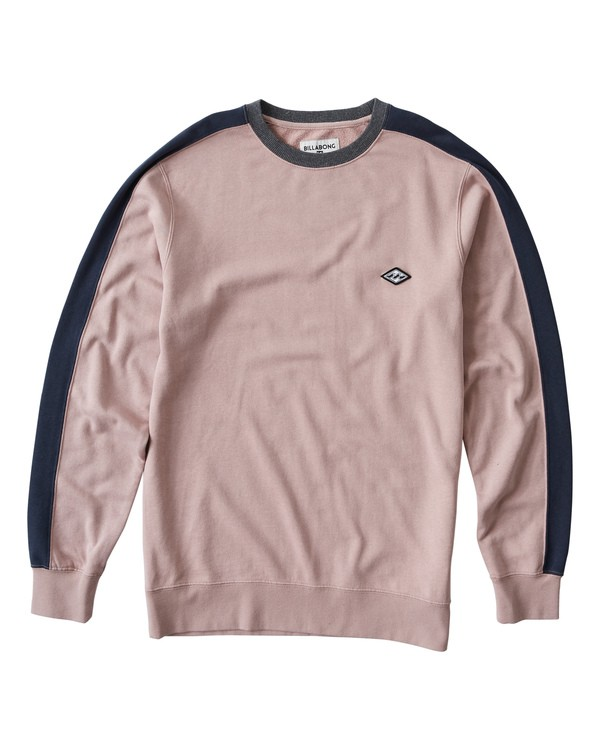 0 Wave Washed Crew Sweater Pink M613VBWC Billabong