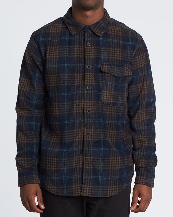 0 Furnace Flannel Shirt Blue M6271BFF Billabong