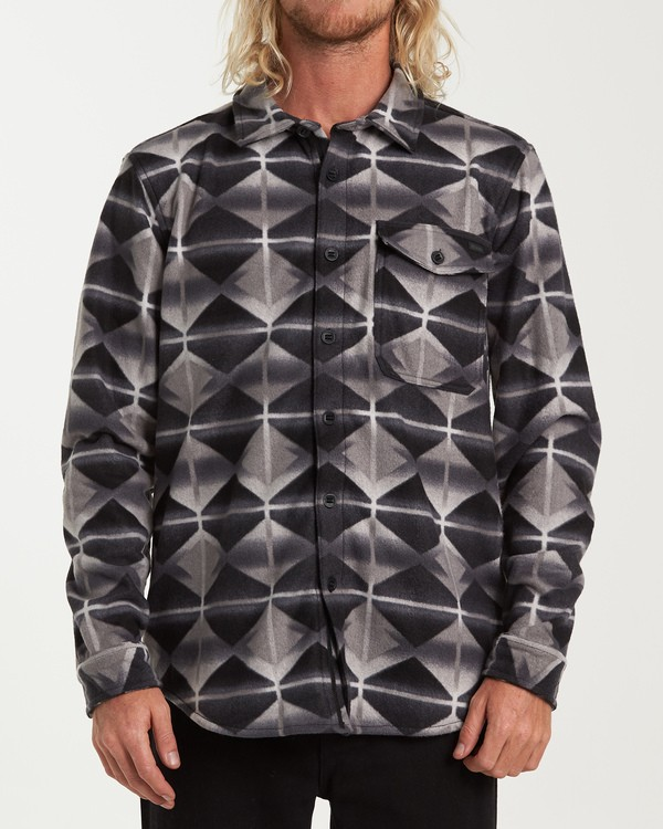 0 Furnace Flannel Shirt Grey M627VBFF Billabong