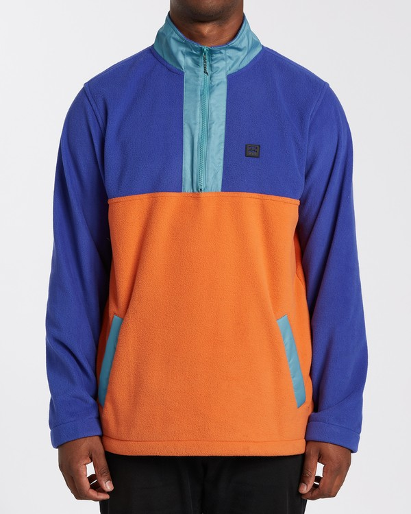 0 Boundary Mock Lite Fleece Blue M6403BAT Billabong