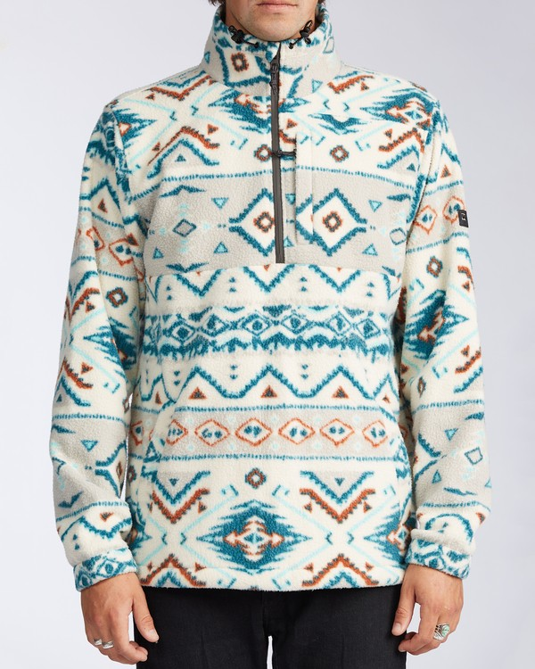 0 Boundary Mock Neck Fleece Beige M6403BBM Billabong