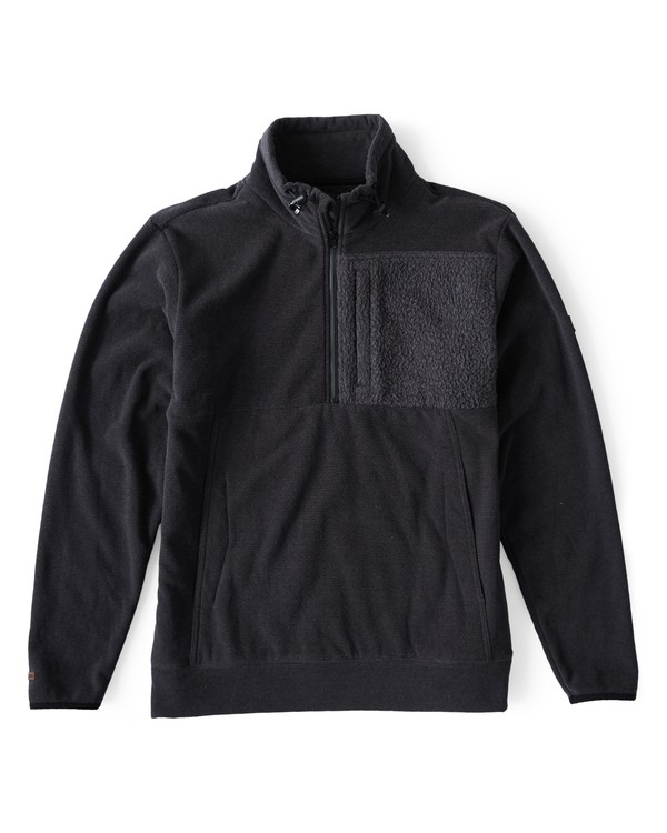 0 Boundary Mock Half Zip Pullover Fleece Black M640QBBM Billabong