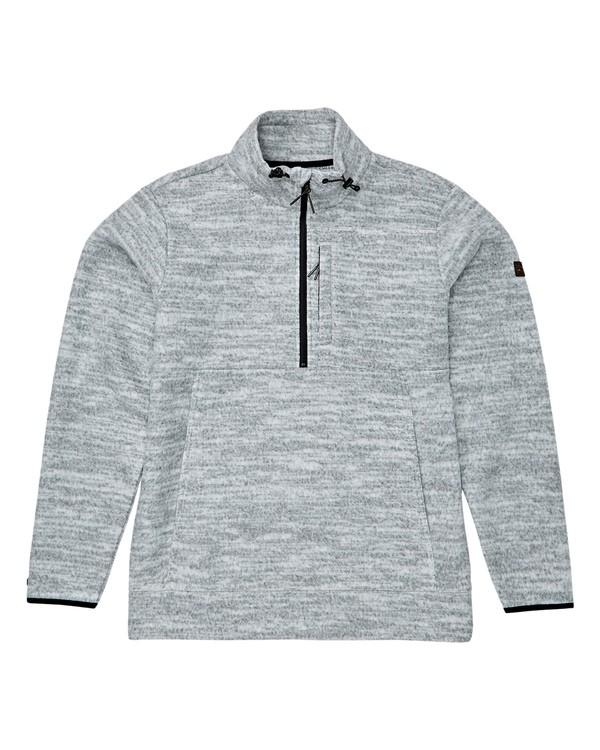 0 Boundary Mock Half Zip Pullover Fleece Grey M640QBBM Billabong