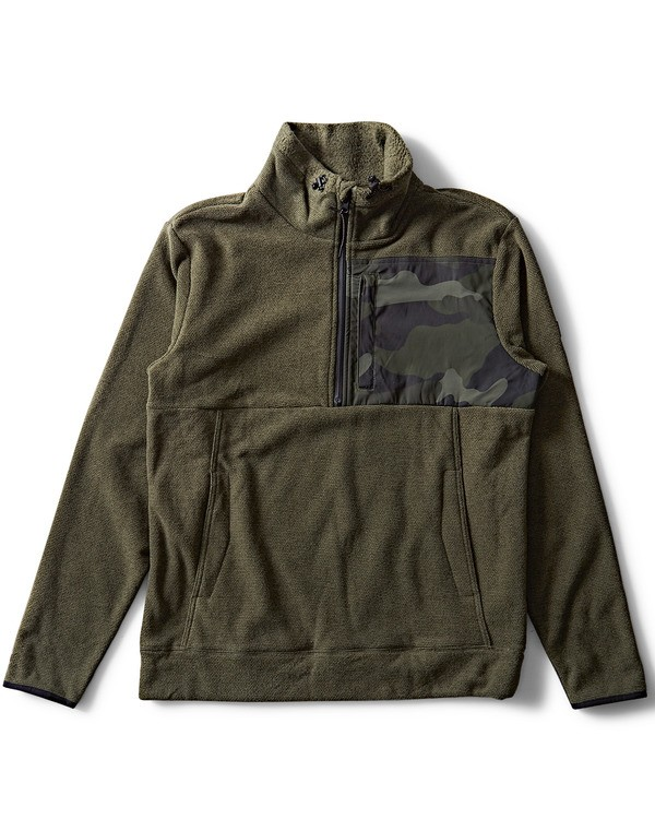0 Boundary Mock Half Zip Pullover Fleece  M640QBBM Billabong