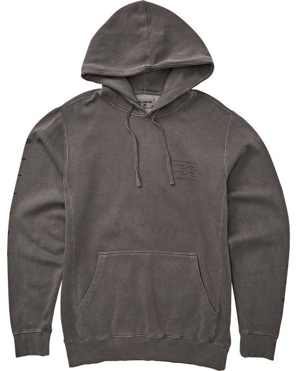 0 Wave Washed Logo Pullover Hoodie Grey M640QBWE Billabong
