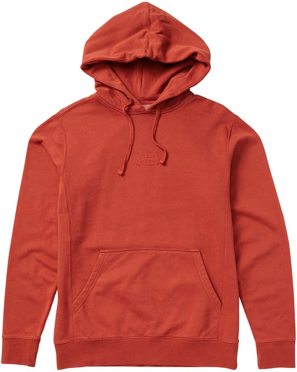 0 Wave Washed Pullover Hoodie Red M640QBWP Billabong