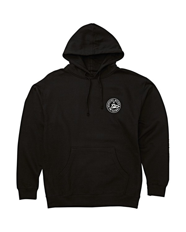 0 HWP Badge Pullover Hoodie Black M640THWP Billabong