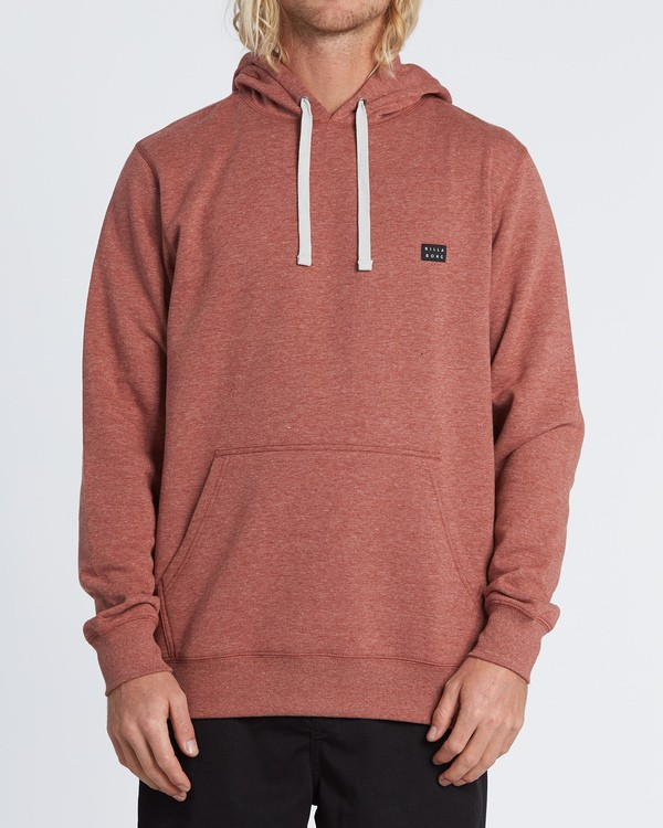 0 All Day Pullover Hoodie Red M640VBAP Billabong