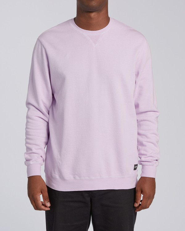 0 Essentials Crew Sweatshirt Purple M642WBEC Billabong