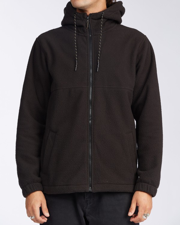 0 Boundary Zip Sherpa Hoodie Black M6603BBM Billabong