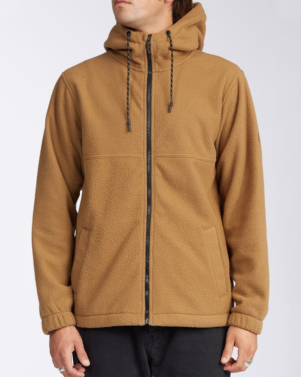 0 A/Div Boundary Zip Sherpa Hoodie Brown M6603BBM Billabong
