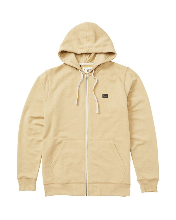 0 All Day Zip Hoodie Beige M660QBAZ Billabong