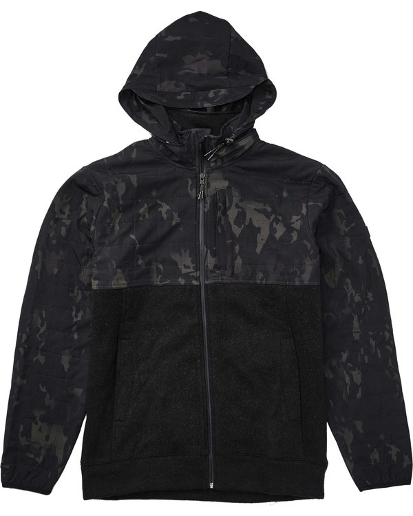 0 Boundary Multicam Zip Fleece Black M660TBBZ Billabong