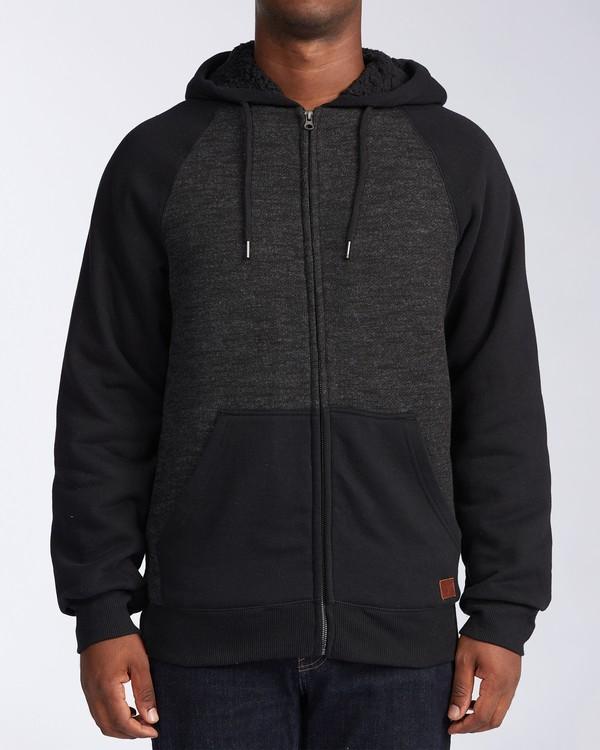 0 Balance Sherpa Zip Hoodie Black M6653BBS Billabong