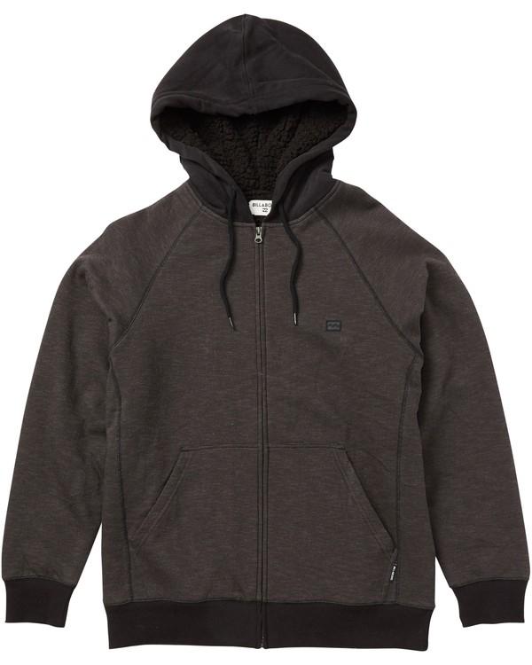 0 Balance Sherpa Zip Hoodie Grey M665QBBS Billabong